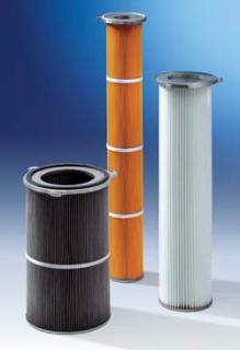 Cartouches filtrantes diamètre 150 - 214 - 327 pour industrie charbon sidérurgie et sablage