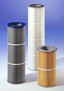 Cartouches filtrantes diamètre  327 pour peinture et métallurgie