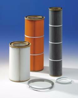 Cartouches filtrantes diamètre  153 - 330 pour industrie chimique ou industrie pharmaceutique