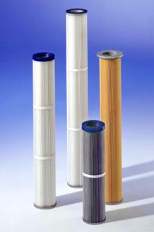 Cartouches filtrantes diamètre 150 pour industrie ciment ou transport pneumatique